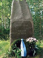 "2001. Kollasjärvi. The memorial ""Kollaa holds on. 1939-1940"""