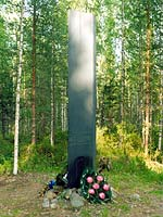 2001. Kollasjärvi. The memorial to Finnish warriors of 1939-1940